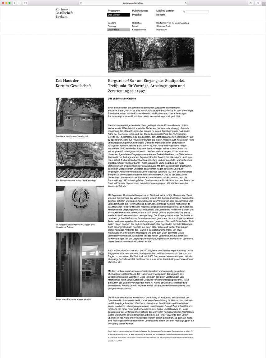 Kortumgesellschaft - Website für die Kortumgesellschaft Bochum – Folgeseite – Der Verein