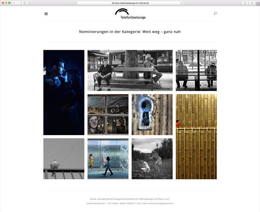 Website für die Telefonseelsorge Deutschland – 20 Jahre Telefonseelsorge im Internet – Eine Kategorie des Fotowettbewerbs