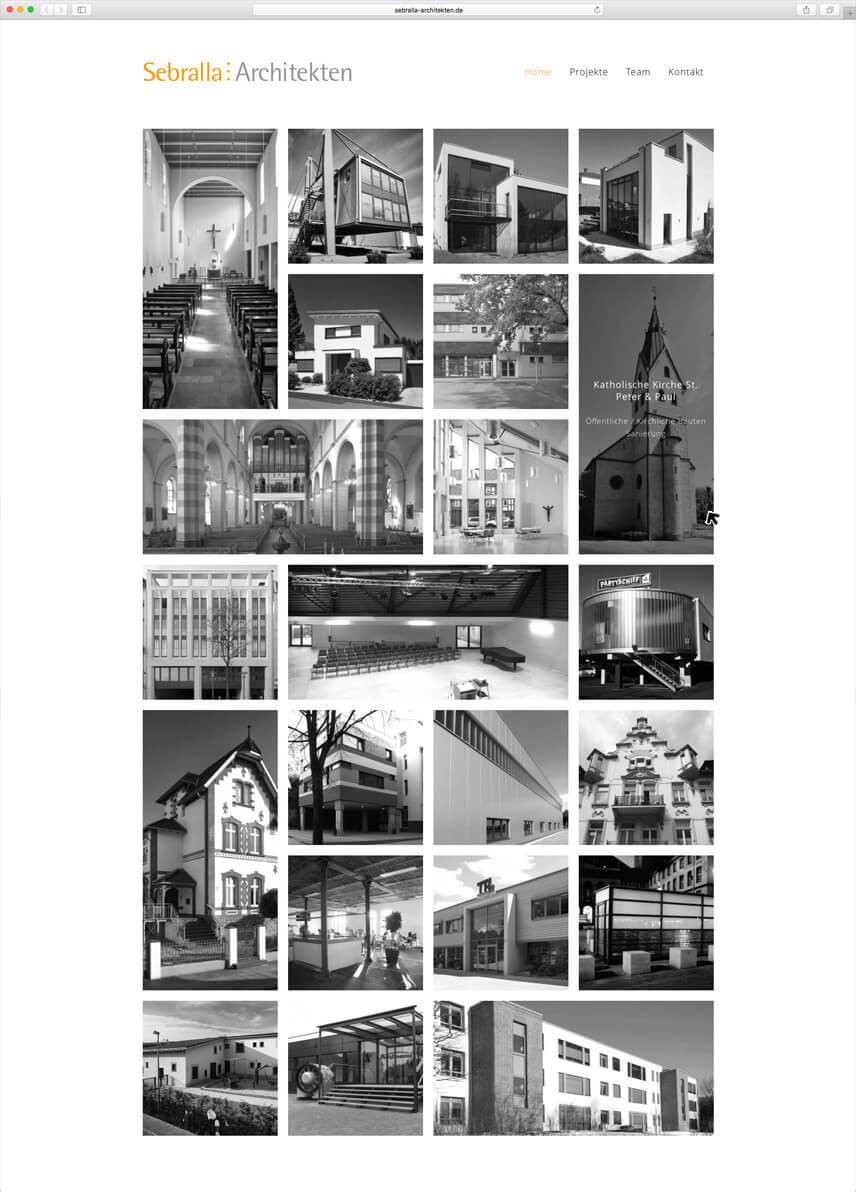 Website für Dipl. Ing. Architekt Thomas Sebralla - Startseite