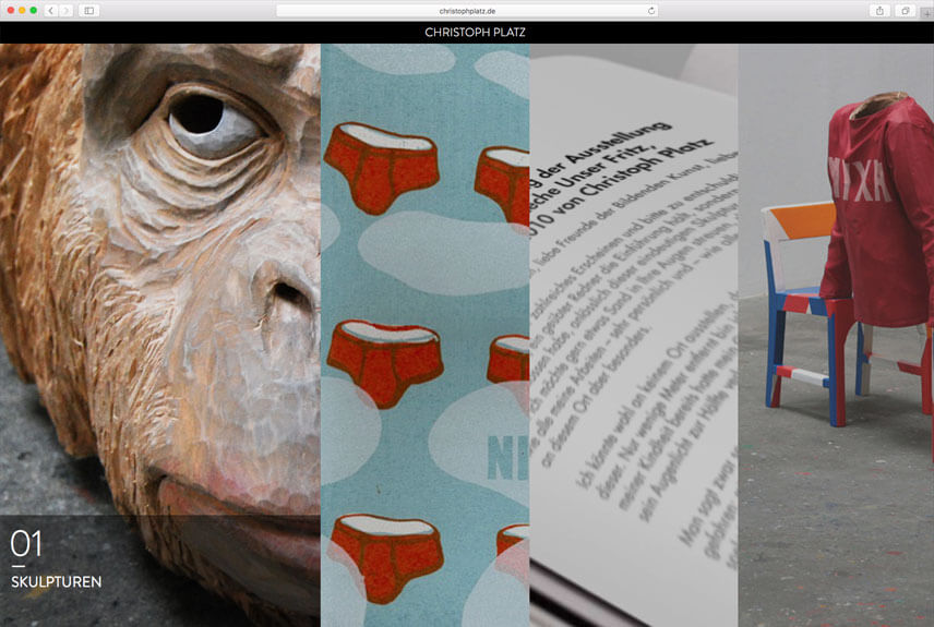 website portfolio christoph platz