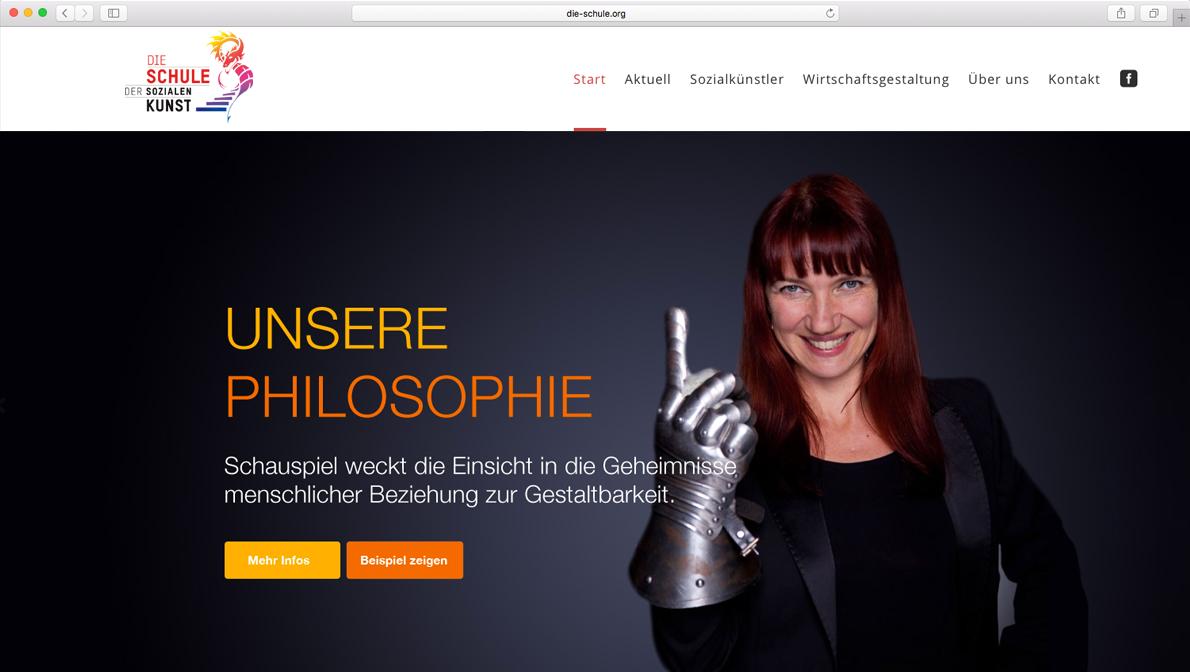Website für DIE SCHULE – Auftrag für die PROJEKTFABRIK gGmbH