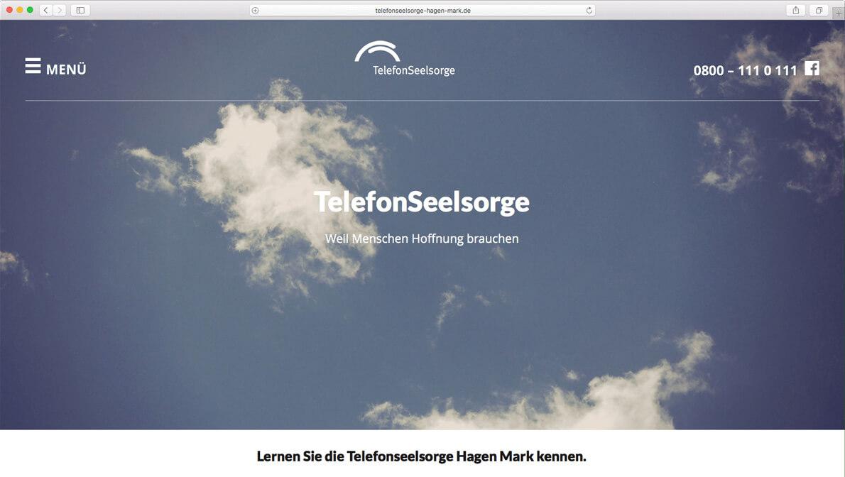 Website für die Telefonseelsorge Hagen-Mark