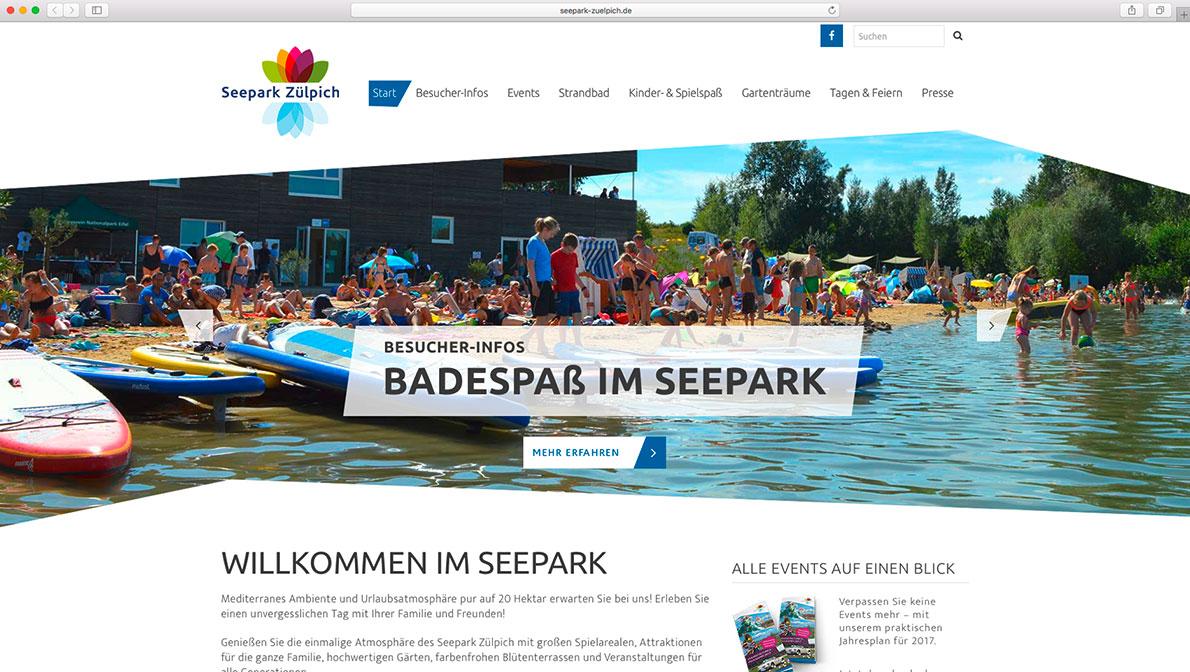 Seepark Zülpich – Website für Veranstalter