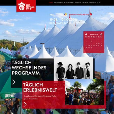 Luftbild der Zeltstadt des Zeltfestival Ruhr